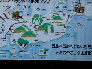 Tourist Map of Kamigoto Island