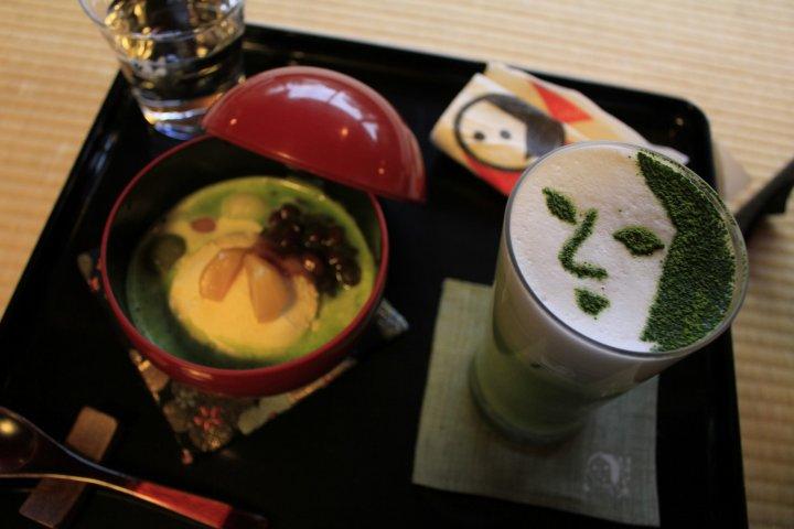 Sweets and Green Tea at Yojiya Cafe