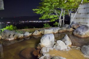 Shiratori Onsen outdoor bath area
