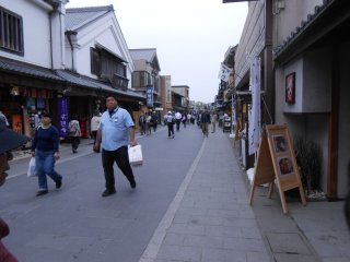 Okage street, approaching Naiku Shrine, is lined with shops and restaurants.