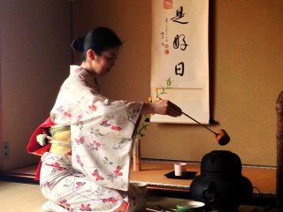 All you hear is the sound of water and the calming of your mind at this Kyoto tea ceremony