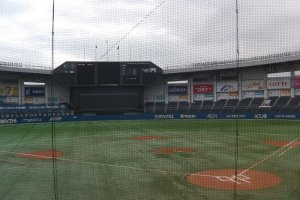 A quiet moment at Chiba's QVC Marines field