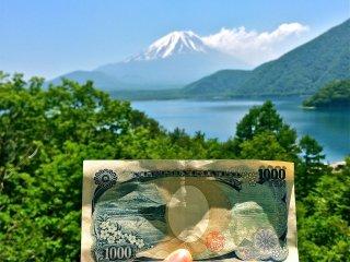 Северное побережье озера Мотосу дарит великолепный вид Фудзи, увенчанную снежной шапкой. Этот пейзаж изображён на купюре в 1000 иен!