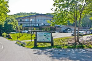 The main entrance to Nyuto-Onsenkyo (National Park Village Resort)