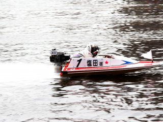 Once they pick up speed they get a little bit higher in the boat so they can see the upcoming turn in the race.