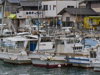 The harbor is packed with interesting fishing vessels to explore from the town streets