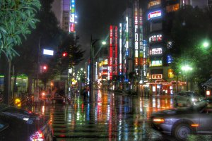 A rainy night in Ikebukuro