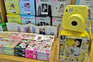 """The Fujifilm InstaxMini 8 Camera is so """"Kawaii."""" Girls will love the instant souvenir photo that's printed on the playful designed film."""