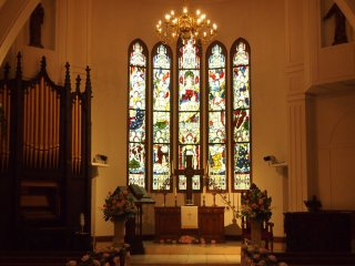 The Stained Glass Museum is decorated with authentic stained glass from the 1800's and is styled like a English Manor house. It's also a popular spot for weddings