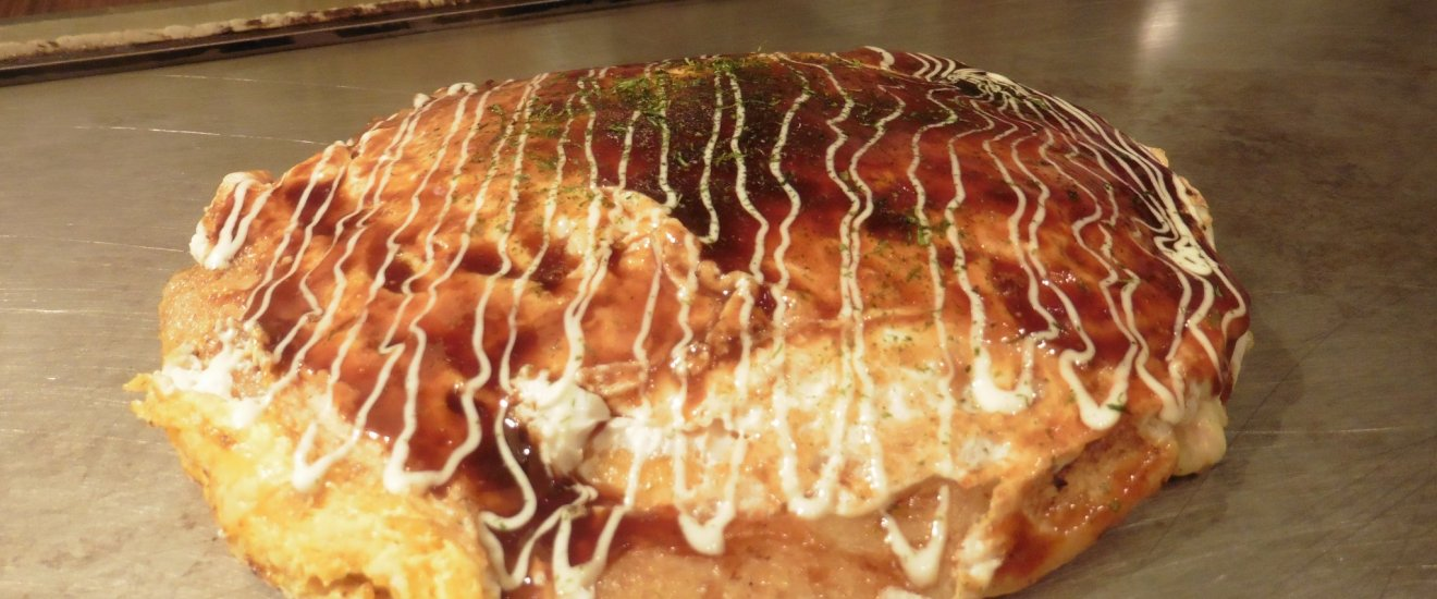Et un okonomiyaki bien chaud !