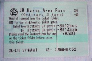 A close-up of the ticket attached to the pass
