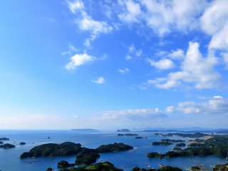 View from the Mt. Ishi Observation Deck. This is one of the locales of the Hollywood movie, 'Last Samurai'