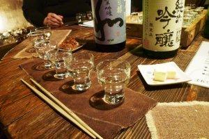 Sake glasses for tasting