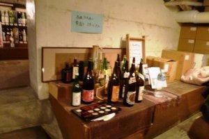 The sake bottles we chose for tasting~