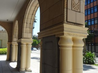 Queen's entrance showcases some lovely arches.