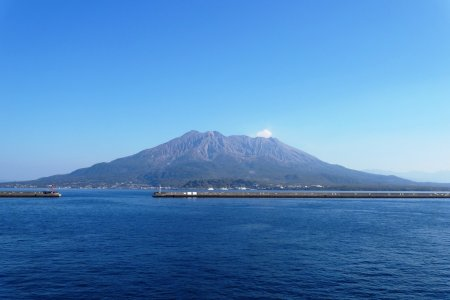 Sakurajima en todas las temporadas