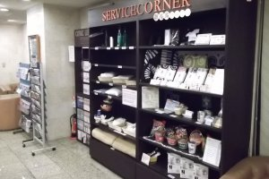 Comics, room supplies, souvenirs and snacks available here