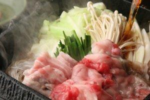 Scrumptious sukiyaki, a winter classic, set to simmer before the show begins.