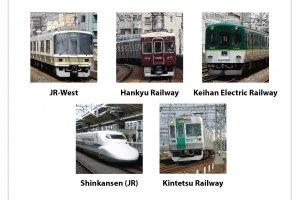 รถไฟของบริษัทต่างๆ ที่ให้บริการวิ่งเชื่อมระหว่างสองเมืองใหญ่อย่าง โอซาก้า และ เกียวโต