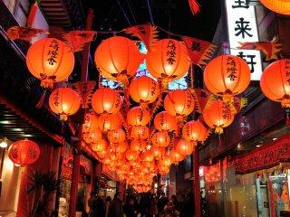 J'ai admiré les lanternes jusqu'à ce que j'en ai mal au cou !