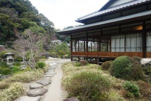 A glimpse past the Shoin (main residence) of the garden