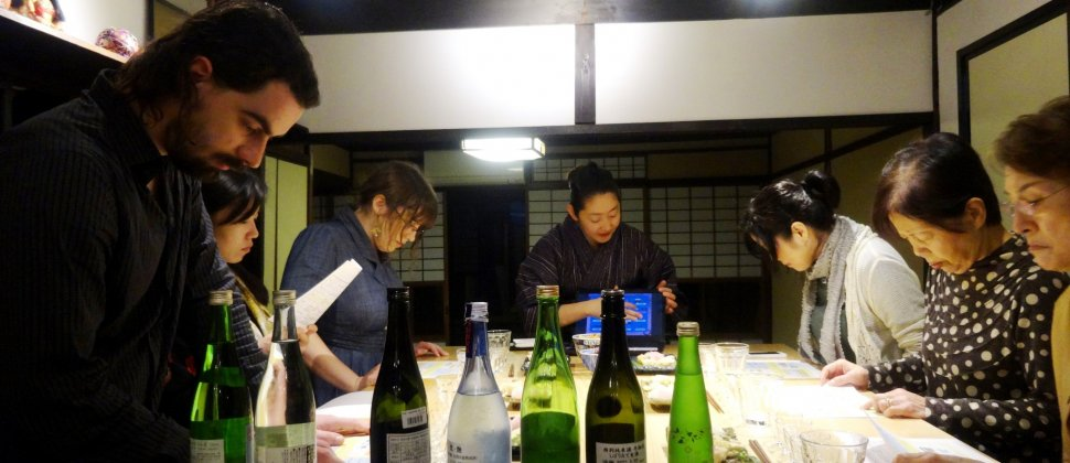 Mencicipi Sake di Kafu