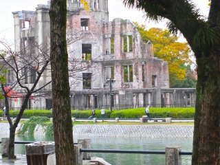The dome from across the river:Hiroshima's Atomic Bomb Dome