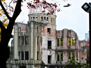 The dome from a distance:Hiroshima's Atomic Bomb Dome