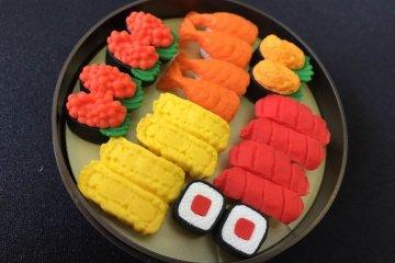 Chơi và xoá với những cục tẩy sushi