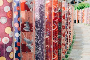 The pillars of textile patterns in the traditional Kyo-yuzen style