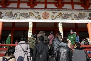 paying your respects at a shrine is a Japanese New Year's tradition