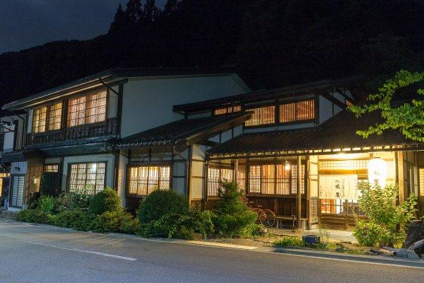 Le ryokan Kazeya est paisible et calme durant la nuit