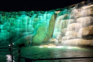 Light up of Shoryu Waterfall