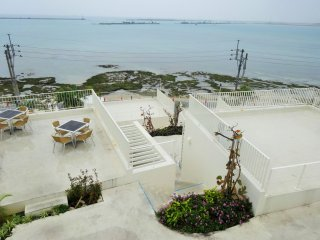 You can enjoy excellent sunset views from all levels of the Umikaji Terrace