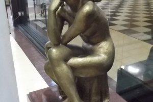 The statue in the lobby