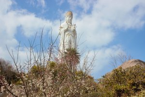 They call this statue the 'Shiawase', or Happiness, Kannon