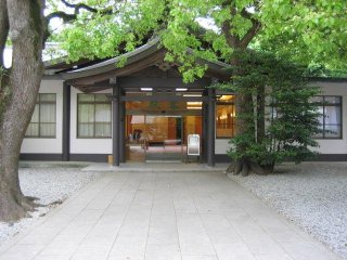 Meiji Shrine is a very popular location for traditional Shinto weddings. The ceremonies take place in this building.