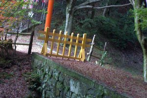 German Prisoners engineered and constructed this stone bridge that leads to one of the smaller shrines deeper in the forest behind the main shrine. It is called Doitsu-bashi (German Bridge)
