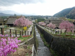 The small village is located on the shores of Lake Sai (Saiko)