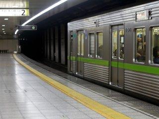 Metro train in Shinjuku, Tokyo
