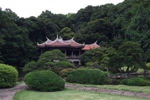Le pavillon Taïwanais dans le jardin japonais