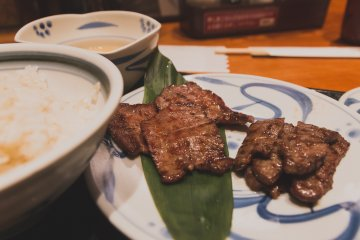 Grilled Beef Tongue at Negishi