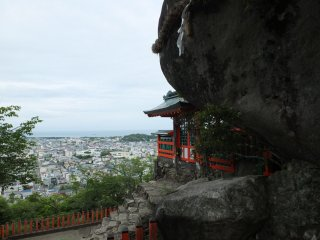 Looking down over the entire Shingu area