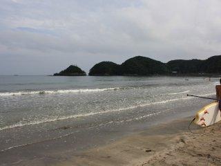 Paddles, surfeurs, nageurs se cotoient