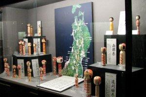 Kokeshi museum displays the local style of Kokeshi dolls