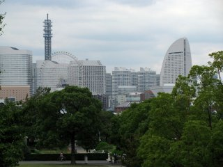 The view to Yokohama from Yamashita Park