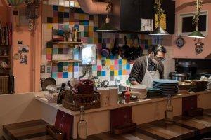 The pastel patchwork kitchen