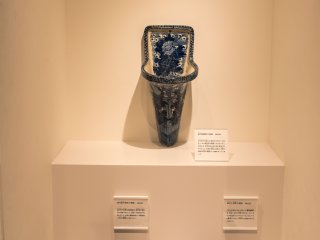 Pretty painted ceramic toilets were phased out as white was viewed as more sanitary
