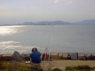 There are often folks fishing here