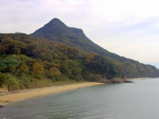 The back side of Yashima, looking more like a mountain than the plateau that it is